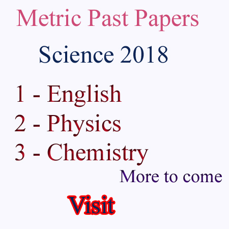 Matric 10th Class Science Past Papers Faisalabad Board - ST