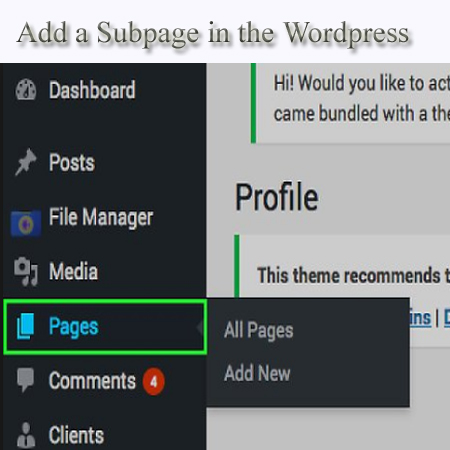 how to add a subpage on wix